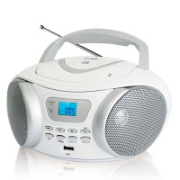 Магнитола BBK BX107U CD MP3 Белый-металик