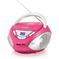 Магнитола BBK BX108U CD MP3 Розовый