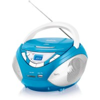 Магнитола BBK BX108U CD MP3 Голубой металик