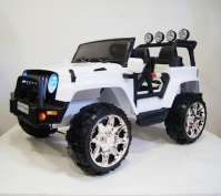 Электромобиль RiverToys Jeep M777MM Белый