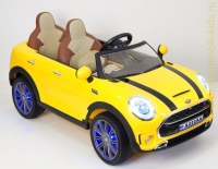 Электромобиль RiverToys Mini Cooper А222АА Желтый